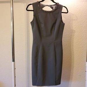 Grey Fitted Dress